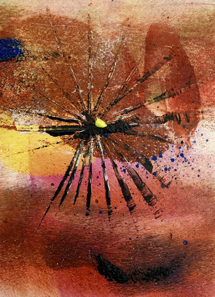 Playful rhythms, 2018, tecnica mista, 10 x 13 cm