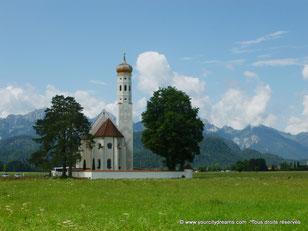 Église près du château de Neuschwanstein en Bavière