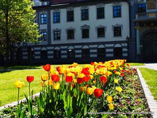 Tourisme en Bavière - Le jardin de l'Évêché à Augsbourg