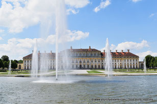 Les fontaines devant le nouveau château de Schleissheim