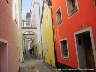 Les ruelles de la vieille ville de Passau