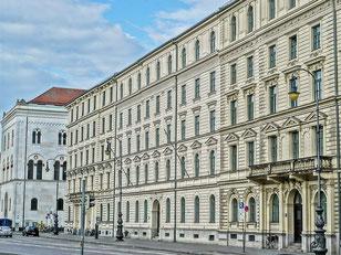Les palais de la Ludwigstrasse à Munich