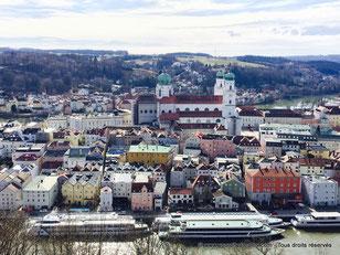 Vue splendide sur la vieille ville de Passau