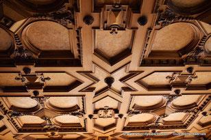 Voyage en Bavière - Plafond à caisson de l'hôtel de ville d´Augsbourg.
