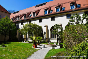 Cloitre de la cathédrale de la Visitation à Augsbourg - Bavière