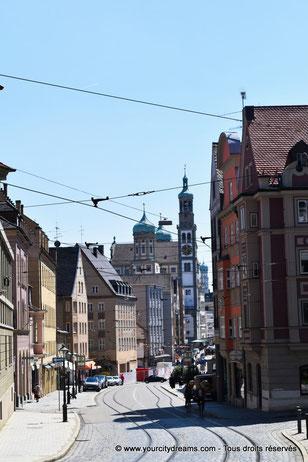 Vue sur la ville à partir de la cathédrale d´Augsbourg