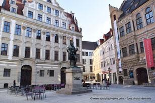 Statue de Hans Jakob Fugger dans le centre ville d´Augsbourg