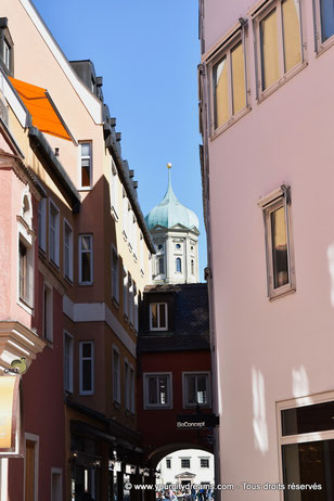 Ruelle dans la vieille ville d´Augsbourg, Bavière