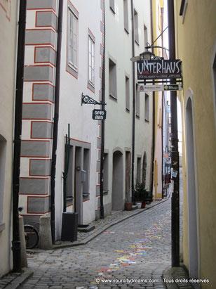 Un dédale de ruelles dans la vieille ville de Passau