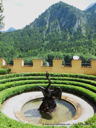 Voyage en Bavière - Jardin du château Hohenschwangau