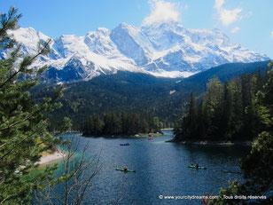 L'Eibsee, près de Garmisch est un lac alpin superbe