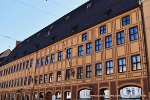 La maison des Fugger dans la Maximilianstrasse, avenue Renaissance d´Augsbourg
