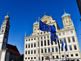 L'hôtel de ville renaissance d'Augsbourg en Bavière
