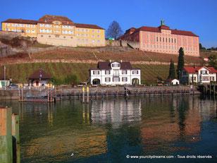 Meersburg au bord du lac de Constance