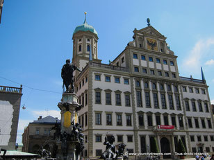 L'hôtel de ville (Rathaus) renaissance d'Augsbourg - Bavière