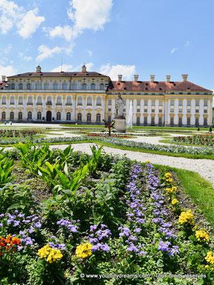 Les parterres de fleurs du parc de Schleissheim