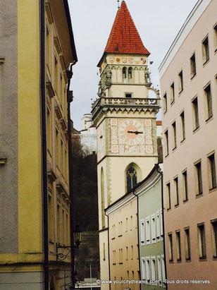 Vue sur l'ancien hôtel de ville de Passau