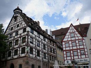 Maisons à colombages à Nuremberg