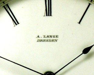 Zifferblattsignatur einer A. Lange Uhr