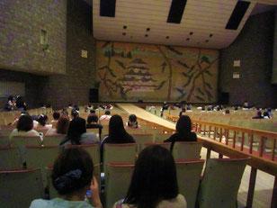 開幕前の会場。