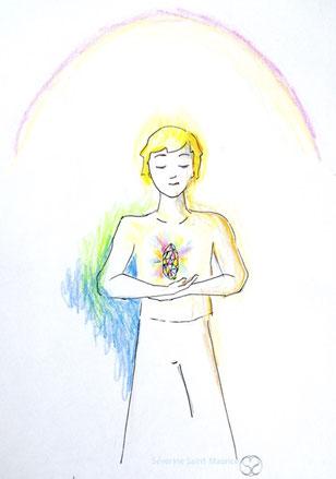 enfant. diamant.multicolore.dessin. dessiner en conscience. lescerclesdelumiere.com. Tours 37000. Séverine Saint-Maurice. conscience.