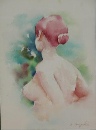 裸婦 水彩8号