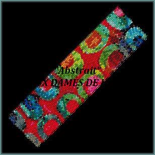 art abstrait-bracelet-manchette-pattern-tutoriel-loom-peyote-seedbeads-miyuki-delica-auxdamesdejadis