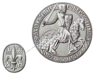 Robert 1er -le Bon- (ou le Vaillant-), comte d'Artois. TEMPLE DE PARIS