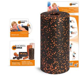 Blackroll Orange Standard Faszienrolle  , Massageroller,Fitnessroller, Faszien Training
