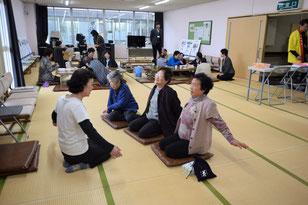 会場内では健康体操や手芸コーナーも大盛況でした