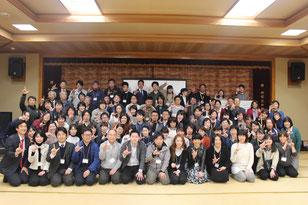 参加者の皆さんでLINEの「L」で記念写真!     たくさんのご参加をいただきありがとうございました!