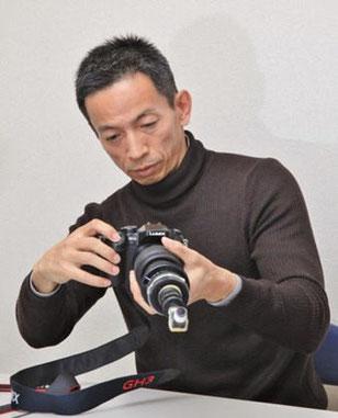 動画撮影用の虫の眼レンズ搭載カメラでの撮影にはライブビューが便利だ