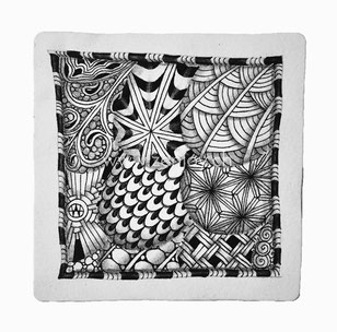 Zentangle Tile by Zenjoy Tagh Arukas Shattuk