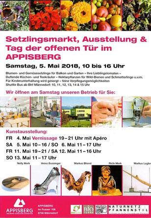 Setzlingsmarkt Ausstellung & Tag der offenen Tür im Appisberg