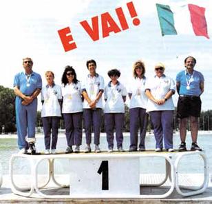 1994 Campionato Mondiale Femminile Italia campione del mondo : Elvira Cevenini Socia Cannisti Castel Maggiore SAM-Antiche Pasture