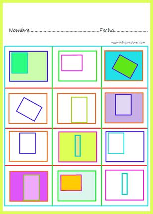 Actividad basada en la asociación de formas y colores, trabaja varios aspectos, por un lado la atención y concentración en todos los ejercicios y, por otro,