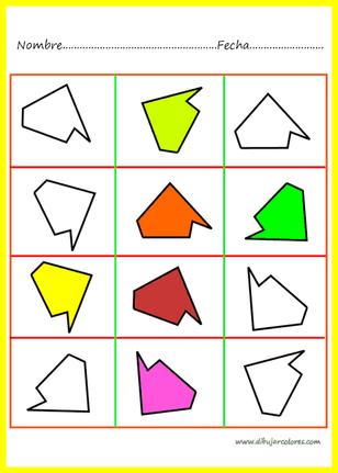 Asociacion de formas y colores actividades formativas - Colores para la concentracion ...