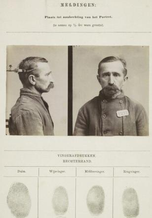 Signalementskaart Veenhuizen opname 23-09-1896