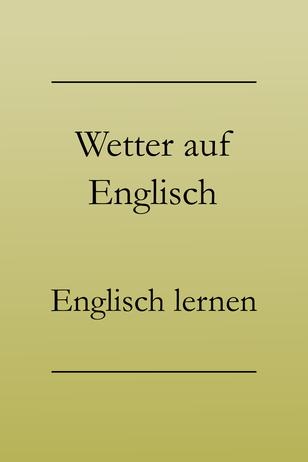 Smalltalk auf Englisch über Wetter und Hobbys: Englisch lernen