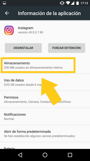 Borrar Datos De Instagram