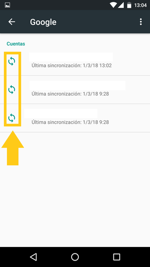 Cómo Sincronizar Manualmente En Android