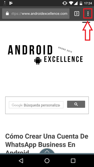 Sitio De Escritorio Chrome Android