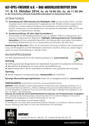AltOpelFreunde Treffen Brakel 2014