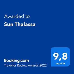 Review award for Sun Thalassa, Paralia Folia, Kavala