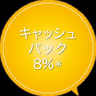 キャッシュバック8%,海外リゾート投資