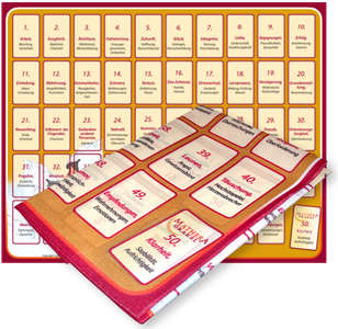 Orakelkarten und Legevorlage von Mathera zum Kartenlegen lernen