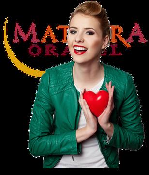 Frau mit Begeisterung für Orakelkarten von Mathera