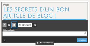 Jimdo, activer ou désactiver les commentaires du blog