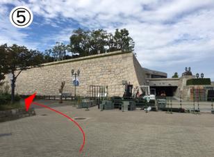 大阪城公園からBBQエリアへのアクセス⑤