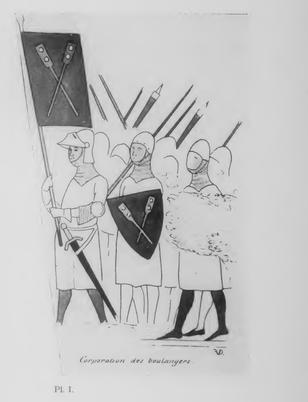 V. Félix de Vigne : Recherche sur les costumes civil et militaire des corporations des métiers
